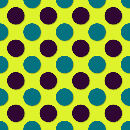 Polka dots seamless pattern. 3d vector background. Retro style print. Illustration