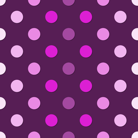 Simple polka dots colorfull seamless pattern. 3d vector background. Retro style print.
