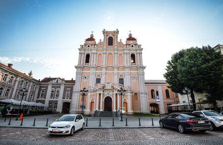 Vilnius, Lithuania - August 13, 2017: View on ancient Church of St Casimir, Vilnius Lithuania Redakční