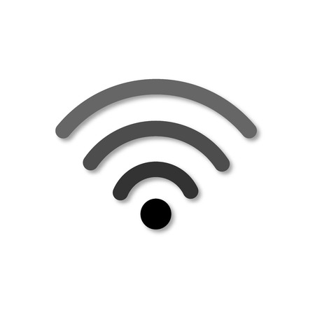 Wi-fi icon. Isolated 3d wifi vector icon. Paper cut art style. Wireless internet access symbol