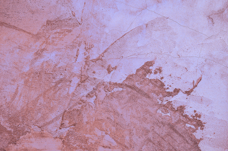 Pink and blue painted Textured Cement or concrete wall background. Deep focus. Mock up or template.