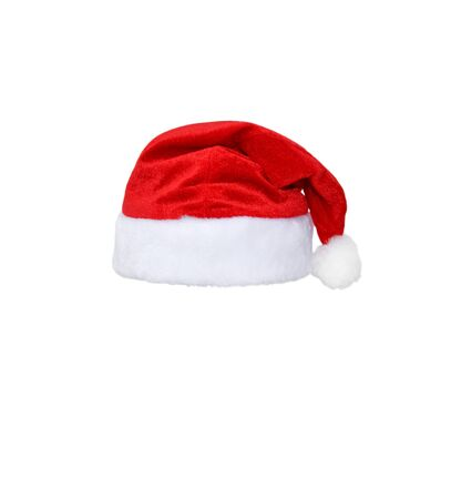 Santa Claus red hat isolated on white background. Red christmas hat or cap isolated on white Stock fotó