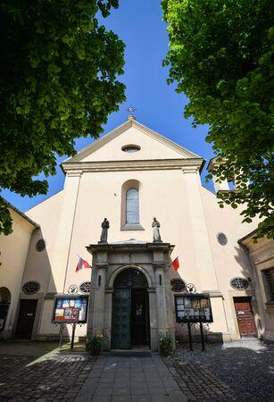 Krakow, Poland - May 21, 2019: Ancient Annunciation of the Blessed Virgin Mary Church on 11 Loretanska street, Krakow, Poland