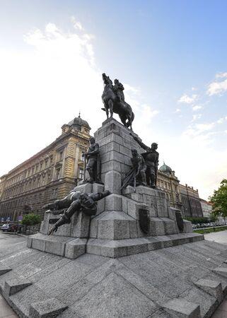 Krakow, Poland - May 20, 2019: View on Grunwald Monument, Krakow, Poland Stok Fotoğraf - 131249210