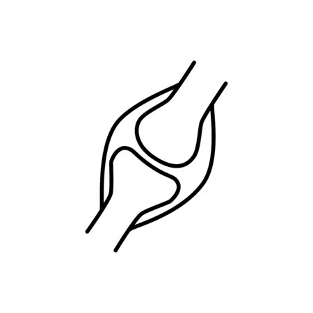 Human joint sign. Simple line vector icon. Human bone joint.