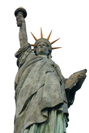 Statue of Liberty on the white backfround