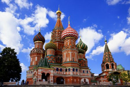 The most famous symbol of Russia - Pokrovskiy Cathedral