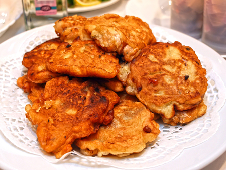 batters: Pieces of fish in batter