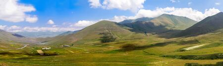 Large-format panorama of the Caucasian mountains