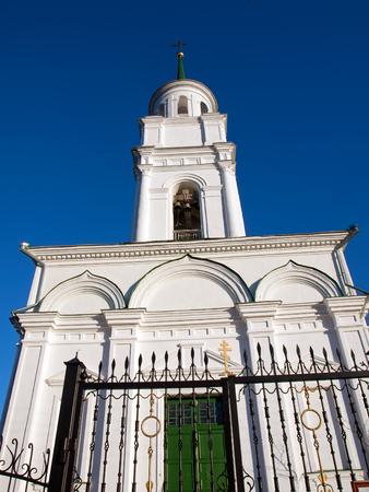 Church of the Holy Apostles Peter and Paul. Chernoistochinsk settlement. Sverdlovsk region Stock Photo