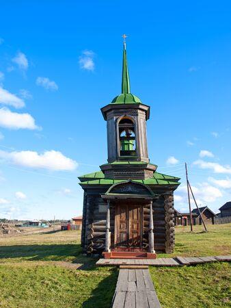 Wooden chapel Zosima and Savvaty Solovki. Russia