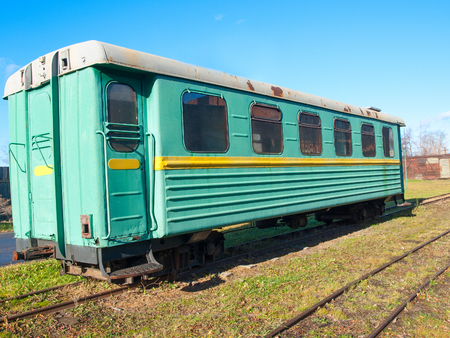 narrowgauge: Green narrow-gauge railway wagon