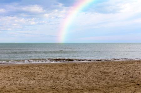 adriatico: Rainbow over the Adriatic Sea