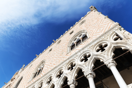 Architectural detail of the Doges Palace (Palazzo Ducale) in Venice, Italy Stock Photo