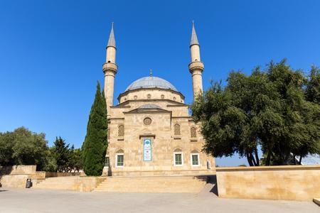 BAKU, AZERBAIJAN - SEPTEMBER 23, 2015: Mosque on Alley of Martyrs