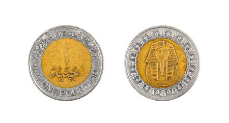 Coin one pound. Egypt Stock Photo