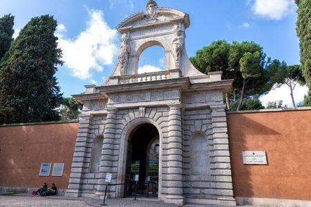 severus: Rome, Italy - November 07, 2016: Roman forum gate