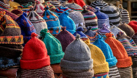 Wool Hats Stock Photo