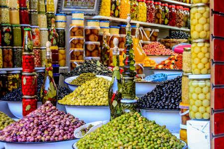 Olive Bar in Moroccan Medina
