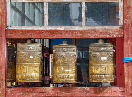 Prayer Wheel at Mongolian Temple