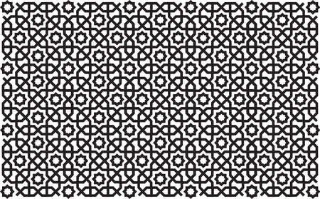 Geometric oriental / islamic seamless pattern. Editable vector file.