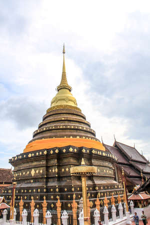 antiquated: Wat Prathat Lampang Luang beautiful place in Thailand Stock Photo