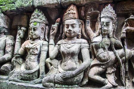 bayon: Bayon Angkor angel dance Stock Photo