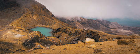 Scenic view from Tongariro Alpine Crossing