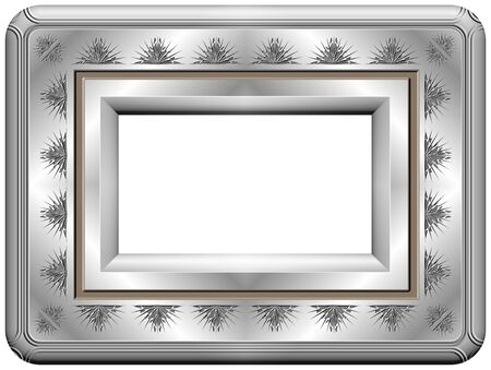 engravings: silver painted photo frame with engravings