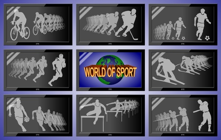 sport on every television channel photo