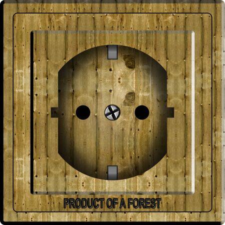 powerpoint: Una ilustraci�n de un power point de madera