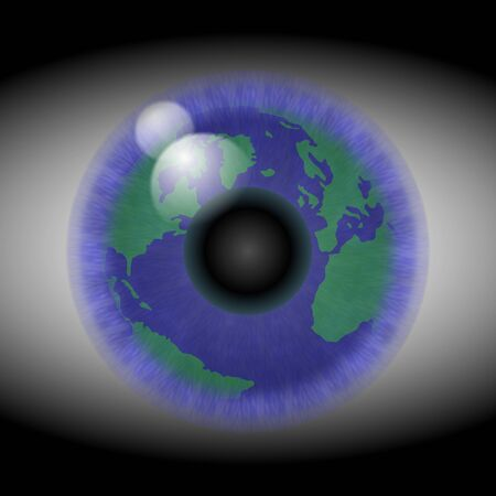 A reflection of the World in a human eye
