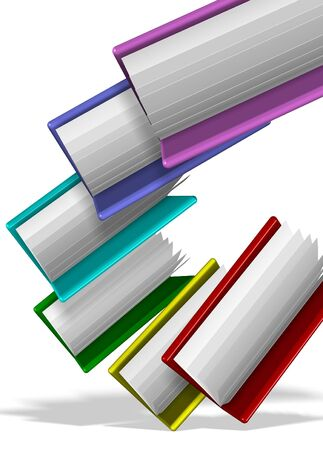 A group of colorful folders suspended in the air Stock Photo - 16431560