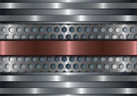 titanium: Titanium design elements with a red stripe in the middle