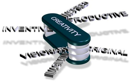 Words connected with creativity assembled as a multi tool knife Stock Photo - 17171311