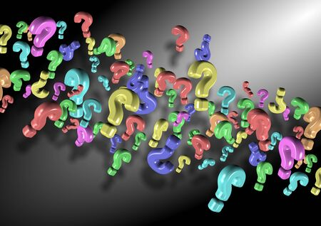 Abstract illustration of a group of 3d question marks Stock Illustration - 17446447