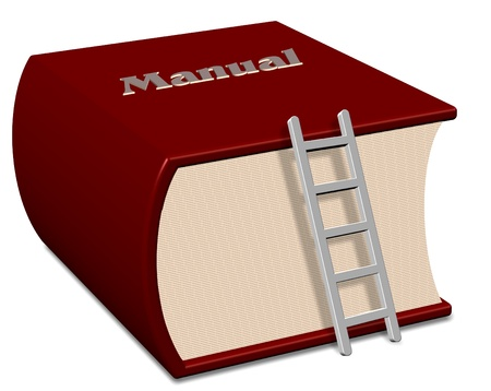 Big red book with a title spelling manual