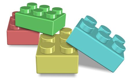 building blocks: An illustration of a group of colorful toy building blocks