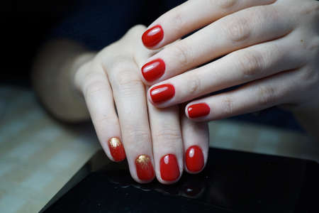 nails: Awesome nails and beautiful clean manicure. Nails are natural. Manicure is made using nails drill machine.