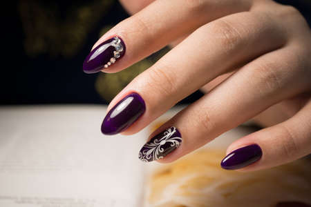 The beauty of the natural nails. Perfect clean manicure for the bright people. Nail drill machine and cuticle nipper are used simultaneously to make such a clean manicure.