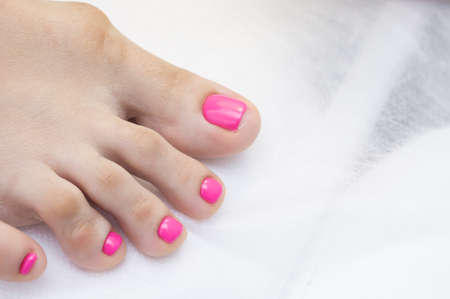 salon and spa: Womens feet and amazing natural nails. Ideal pedicure with gel polish and nail art.