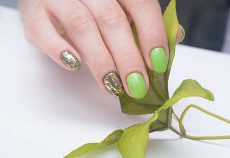 Beautiful natural nails. Clean manicure and nail art. Women's hands