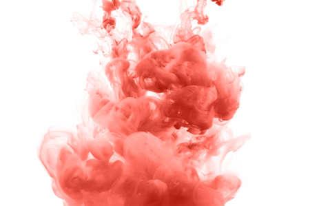 Salpicaduras de tinta de coral fondo abstracto Foto de archivo