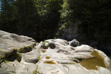 Verampio waterfall in nature.