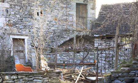 The old stone man-made building
