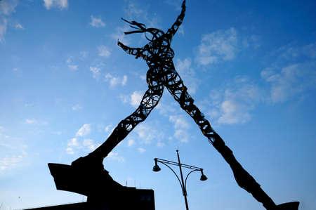 alexa: Alexa sculpture on the Alexanderplatz, Germany, Berlin