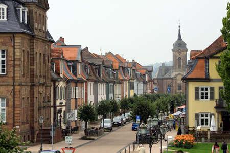 hesse: Houses in the Castle Street, Hesse, Germany, Bad Arolsen