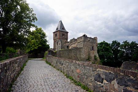 フランケンシュタイン城、ミルバレー、ヘッセン州, ドイツの, 低 Beersbach