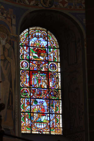 soest: Stained glass window in St  Peter s Church, North Rhine-Westphalia, Germany, Soest