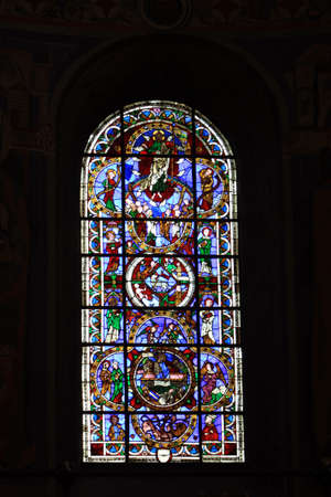 soest: Window in St  Peter s Church, North Rhine-Westphalia, Germany, Soest